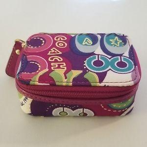 Coach Poppy Pop C Pill-Cosmetic Box New